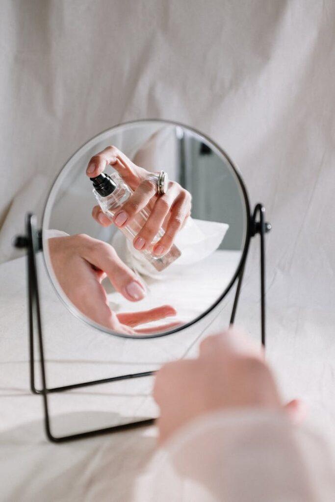 Parfum Test Frau Testet Parfum